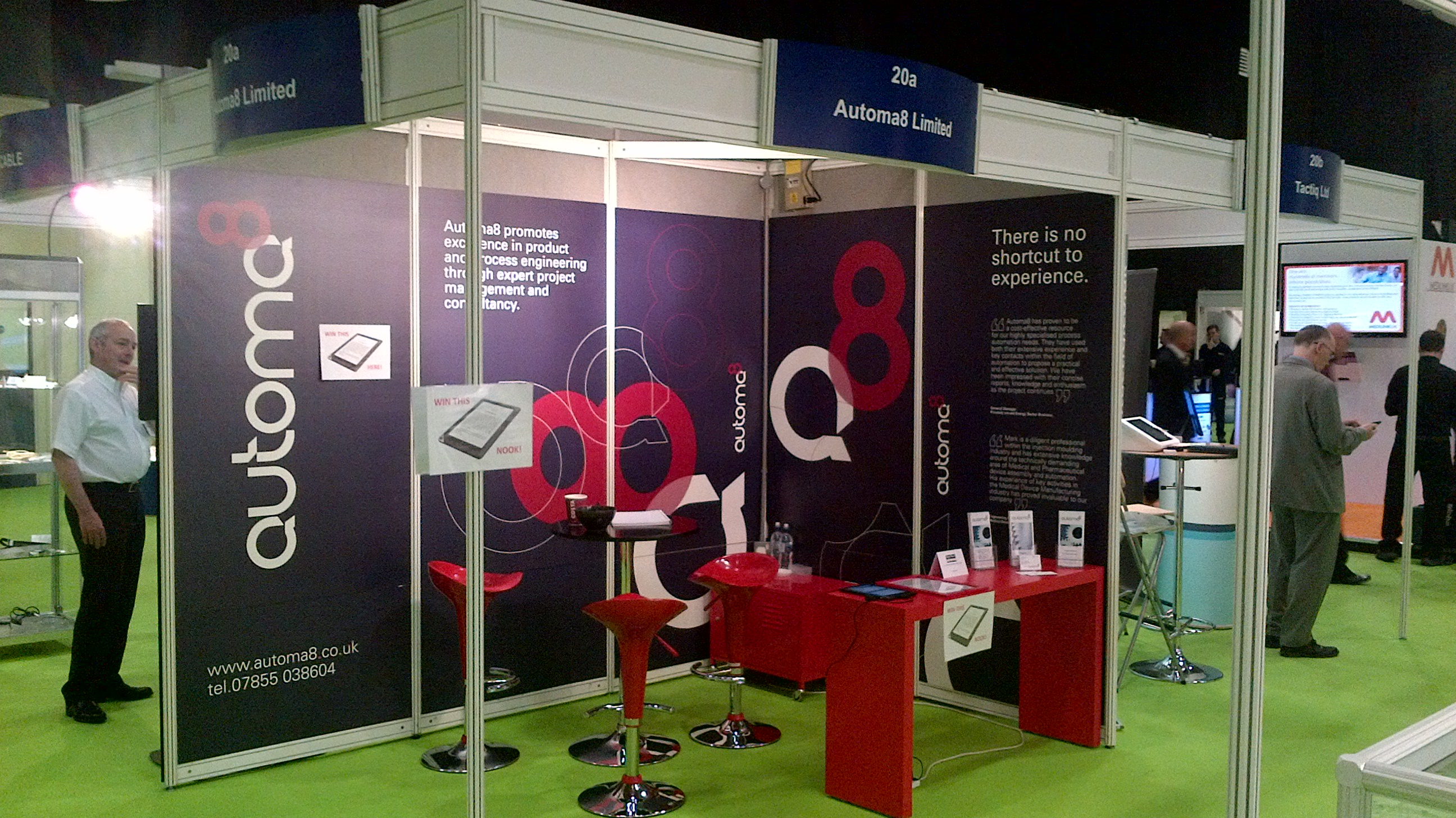 Automa8 stand at Med-Tech Innovation Show 2014
